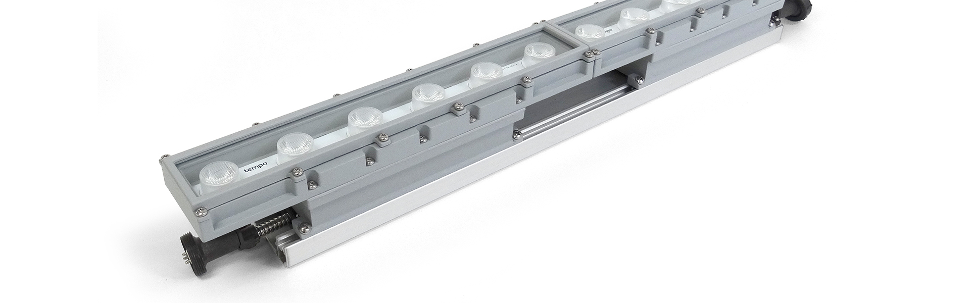 Led linear exterior perimeter lighting high lumentempo Exterior linear led lighting