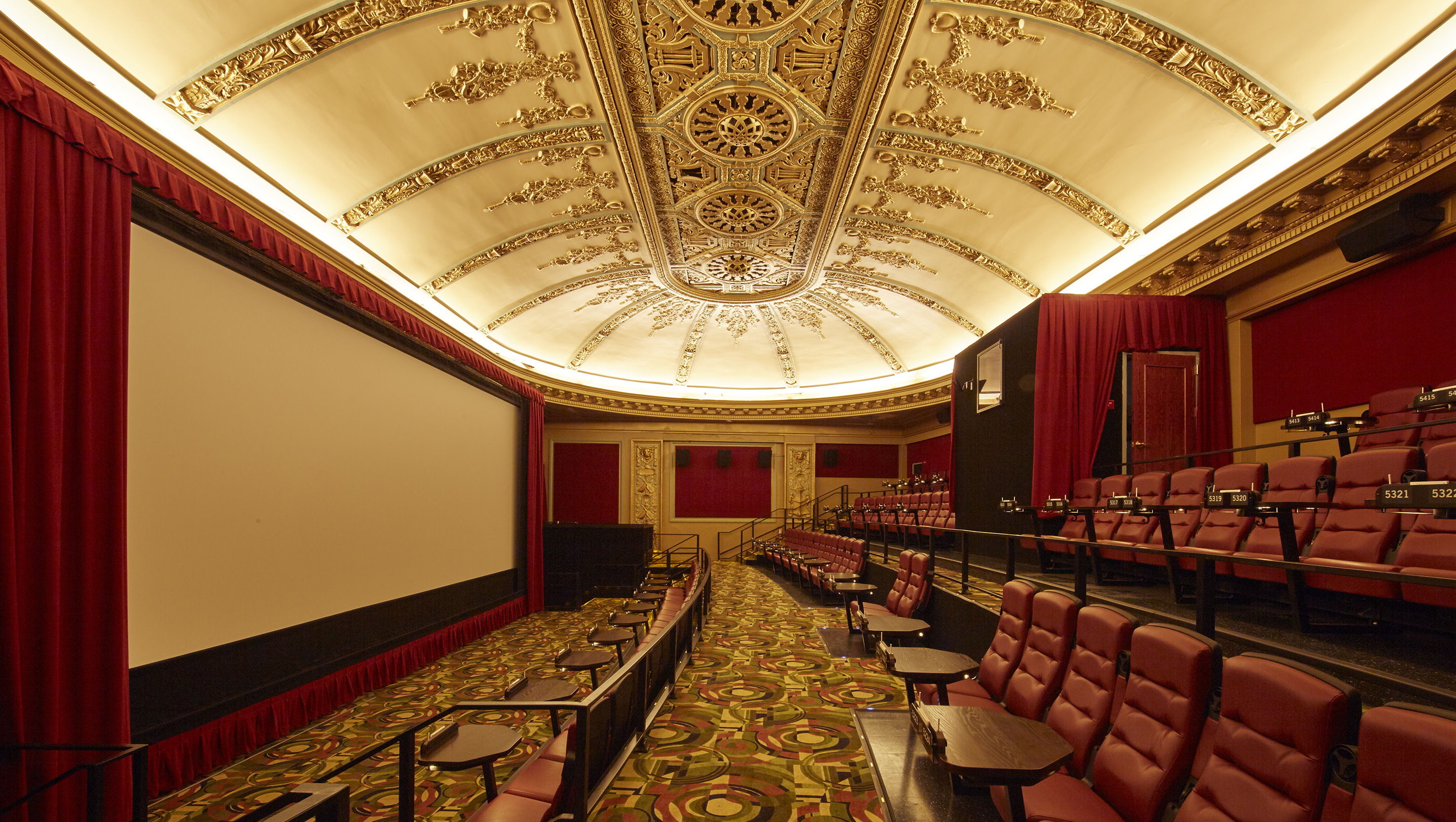 Restored by Alamo Drafthouse Cinema the 100 year old theatre features Tempo Architectural and Theatre lighting throughout. & New Mission Theatre Restored Featuring Tempo LightingTempo