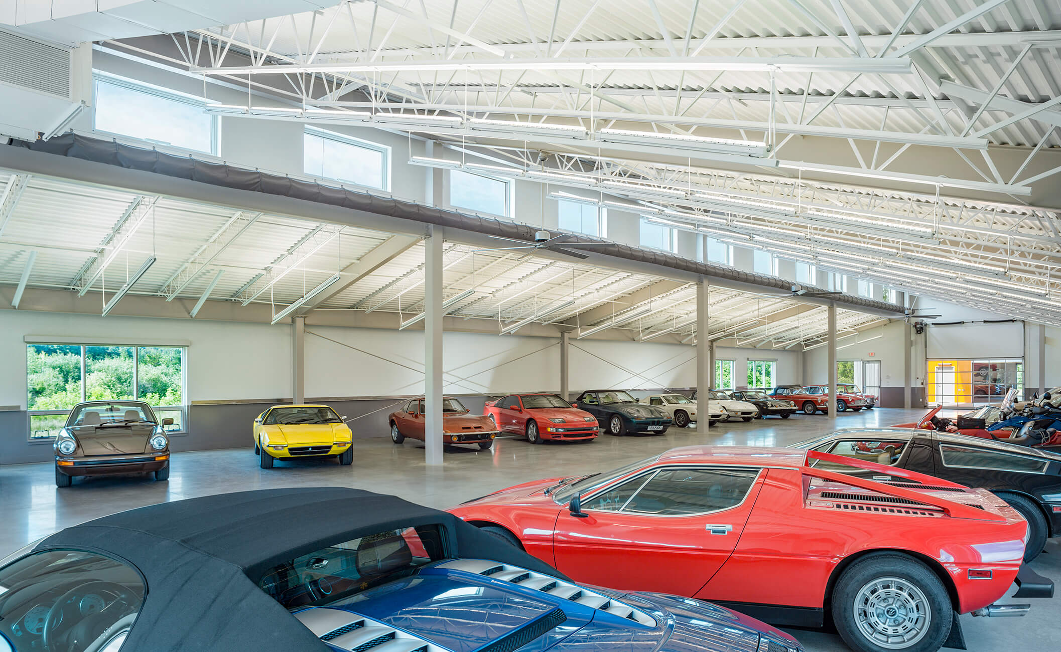 news archive tempotempo smith buckley architects collaborated with jim stockman of j m lighting design to create a stunning private garage to house a classic car collection